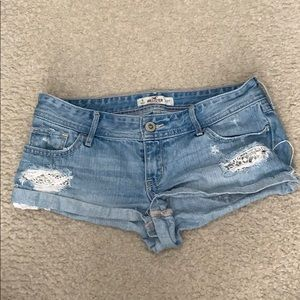 Hollister Jean Shorts with Lace